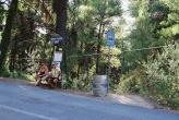 Bushaltestelle am Strand von Milka