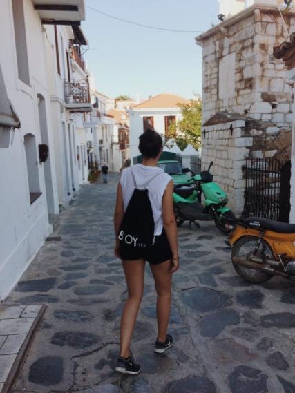 durch Skopelos Stadt schlendern