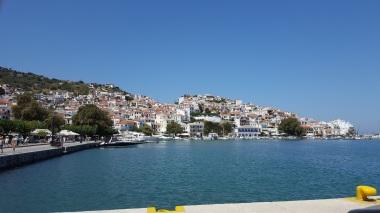Ankunft in Skopelos