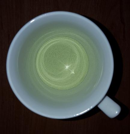 Das Pulver in der Tasse