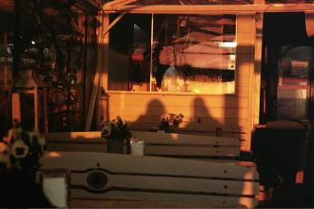 Sonnenuntergang in unserer Fischbude (analog)