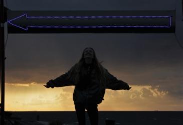Sonnenuntergang mit Lina