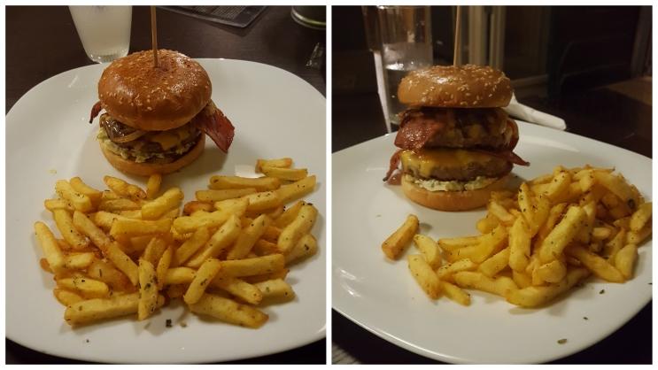 zwei verschiedene Burger